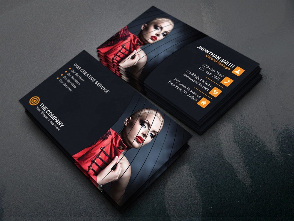Free Photography Business Card Template PSD | business card ...
