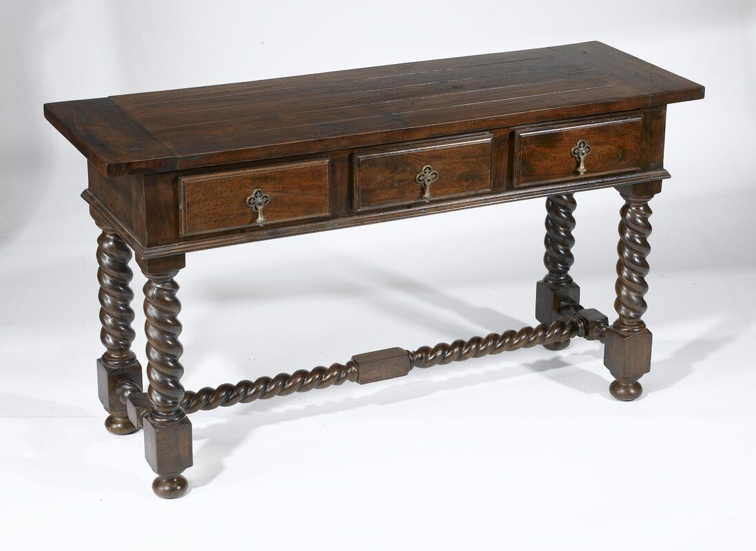 Geremia Barley Twist Console Table In