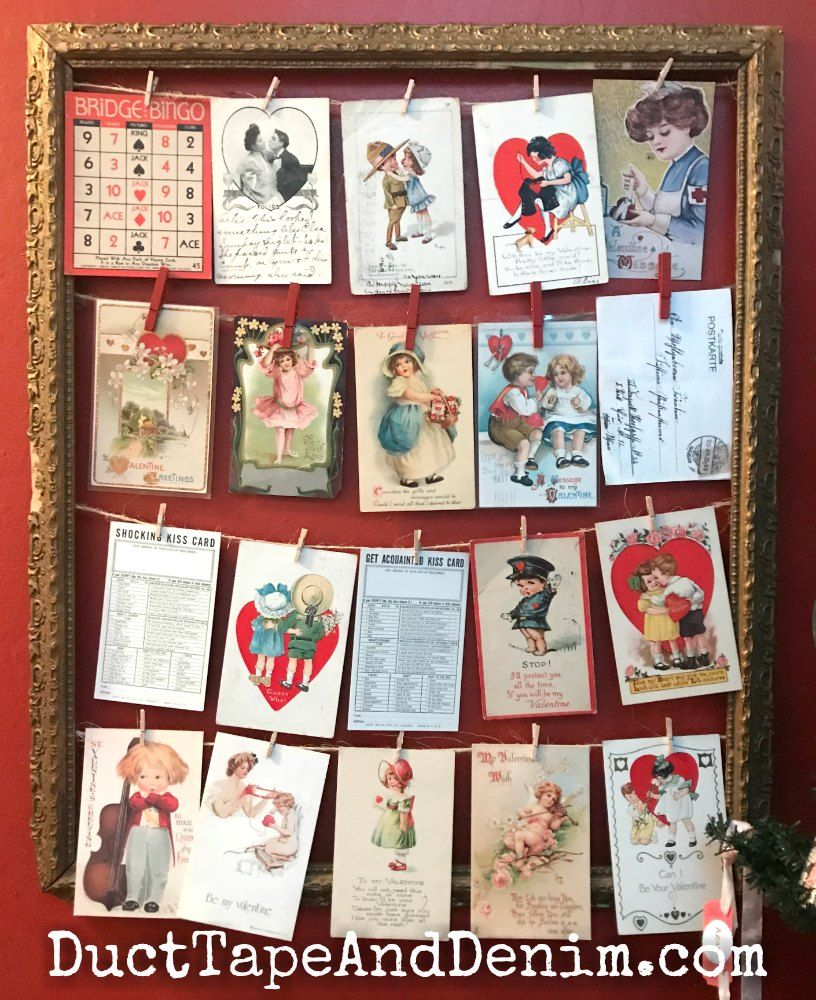 How to Display a Vintage Valentine Postcard Collection | Vintage ...