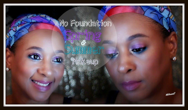 No Foundation Spring & Summer Bold Eye Makeup Tutorial