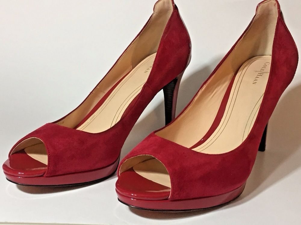 50a620ee515 Details about Women's Cole Haan Red Patent Leather Pumps High Heels ...