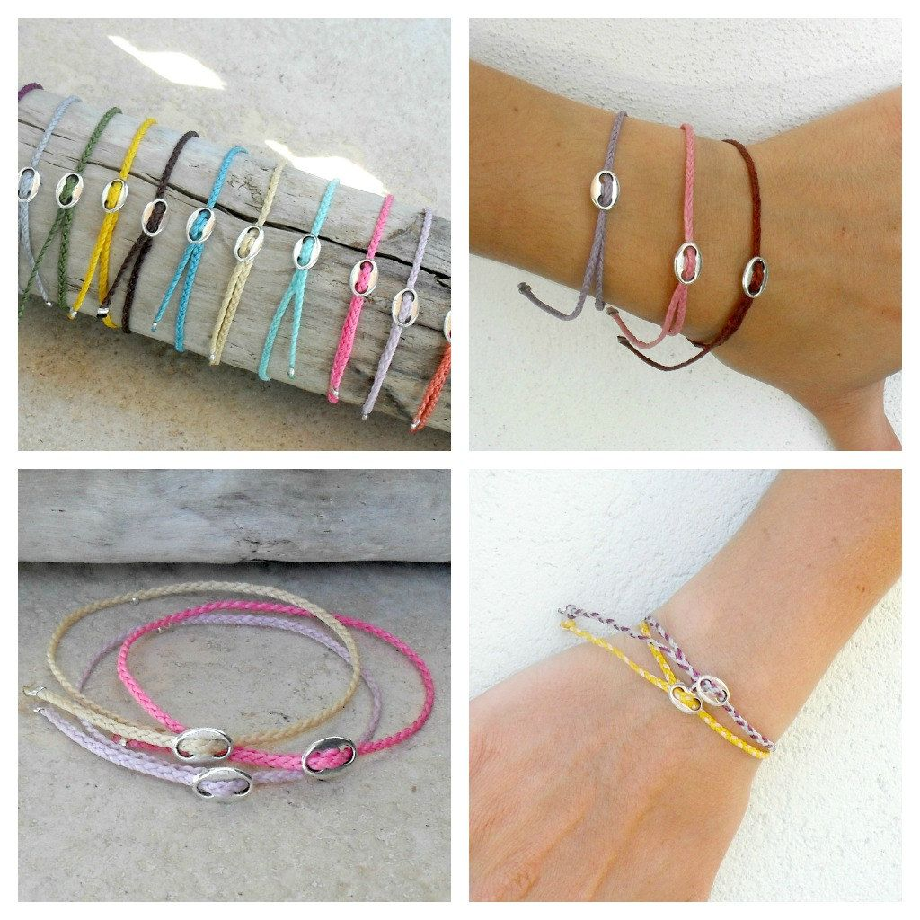 triangle il waxed fullxfull waterproof your bracelet listing bracelets choose color