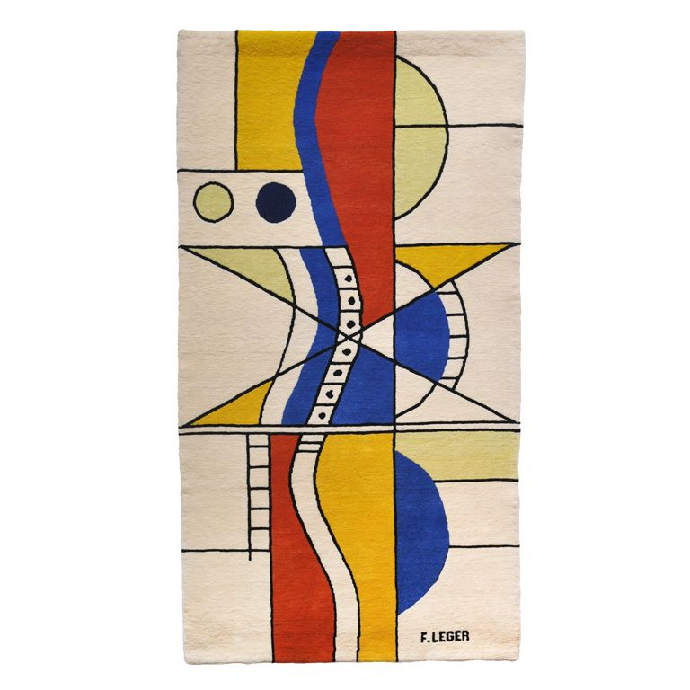 Large Tapestry - After A Design by Fernand Leger (1881-1955) | From a unique collection of antique and modern tapestries at http://www.1stdibs.com/furniture/wall-decorations/tapestry/