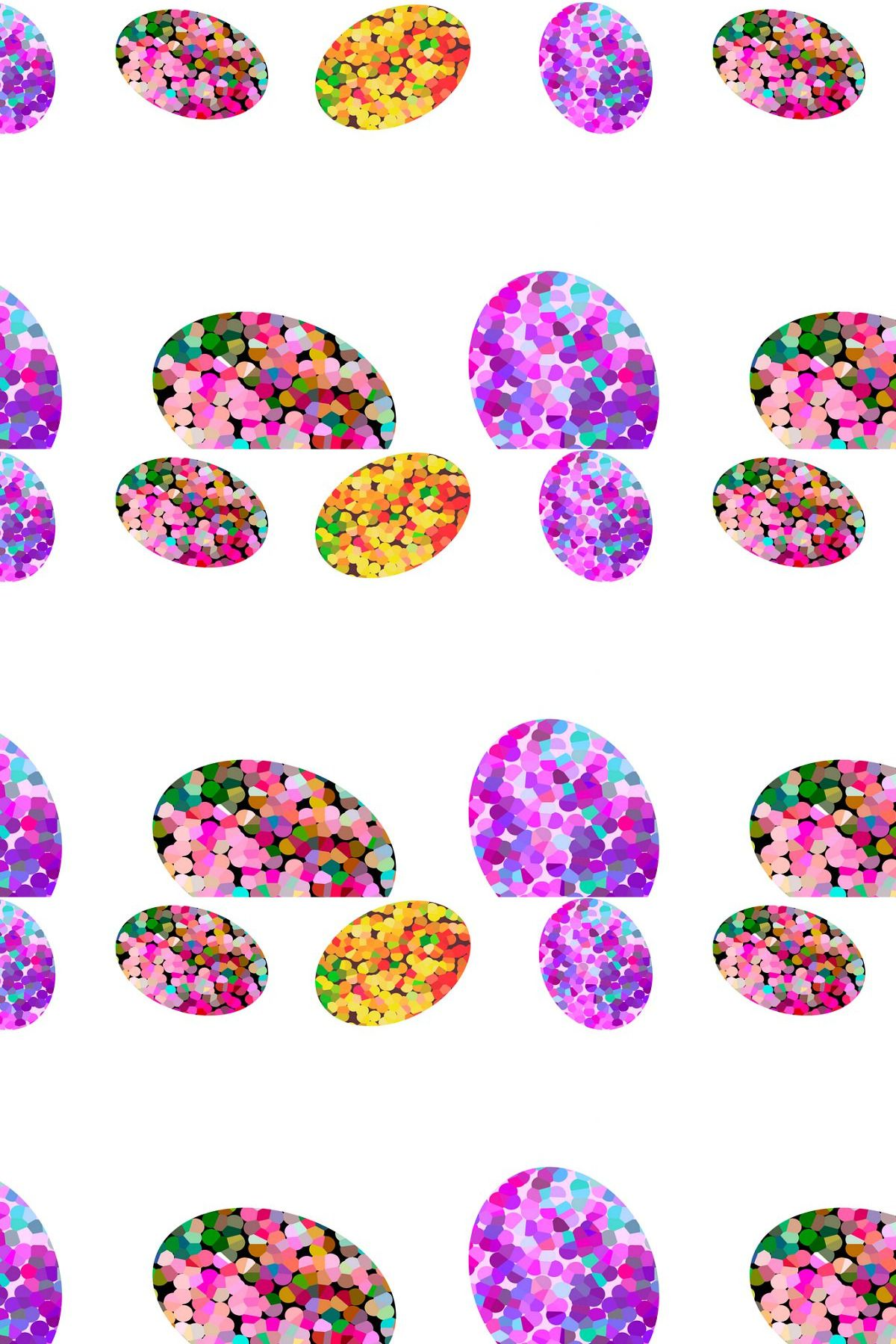 Colorful Easter Eggs Bordure In