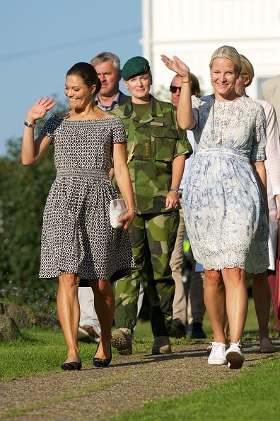 Royal Family Around the World: Victoria of Sweden and Mette Marit of Norway Take Part in Climate Pilgrimage 2015 on August 22, 2015 in Halden, Norway