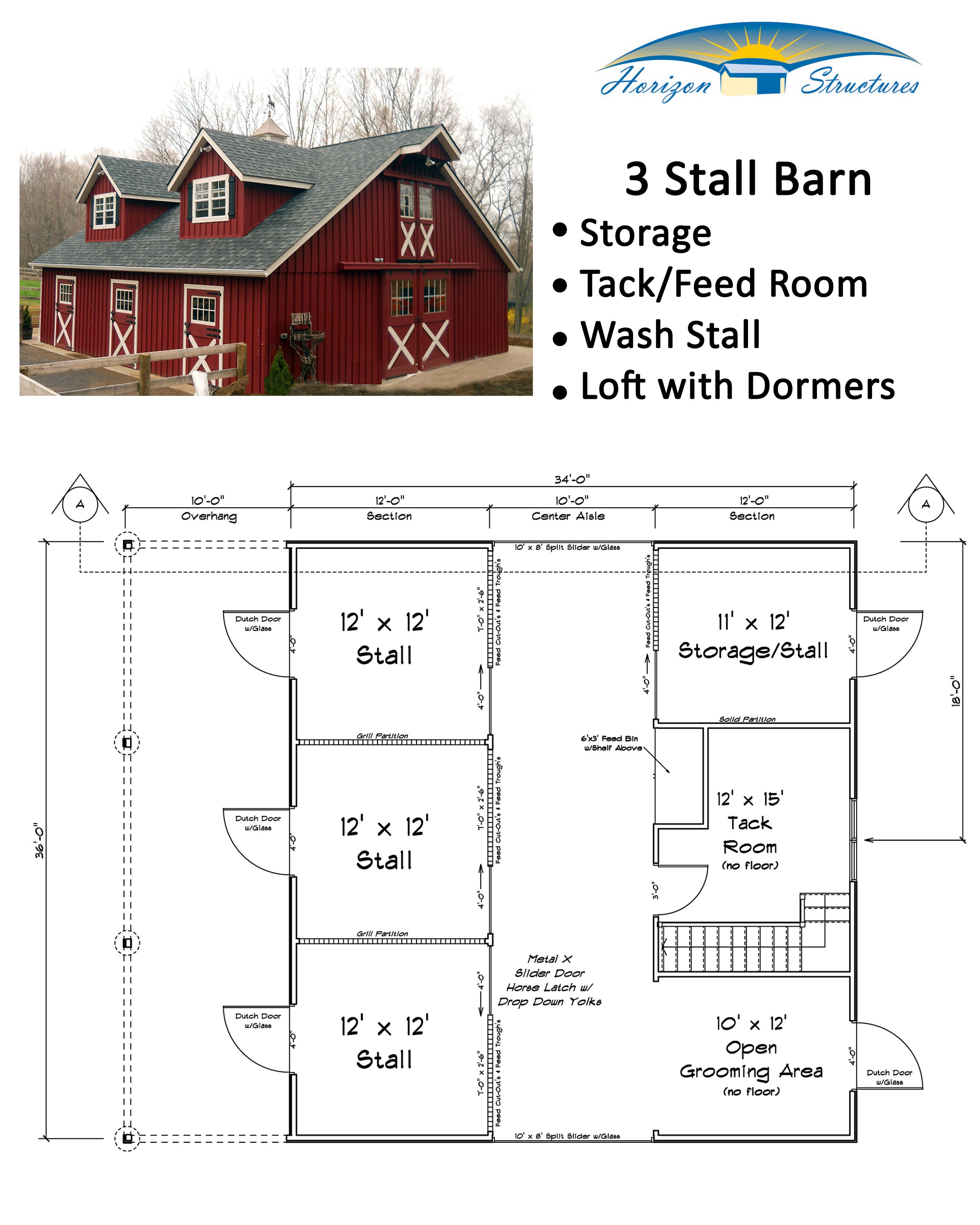 34x36 Modular Horse Barn Starting At About $50k. Fully