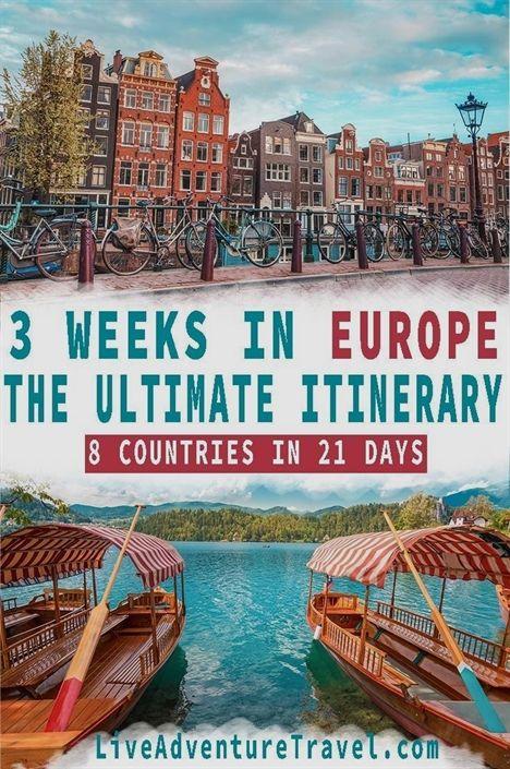 Europe Travel Itinerary - 3 Weeks Traveling Europe