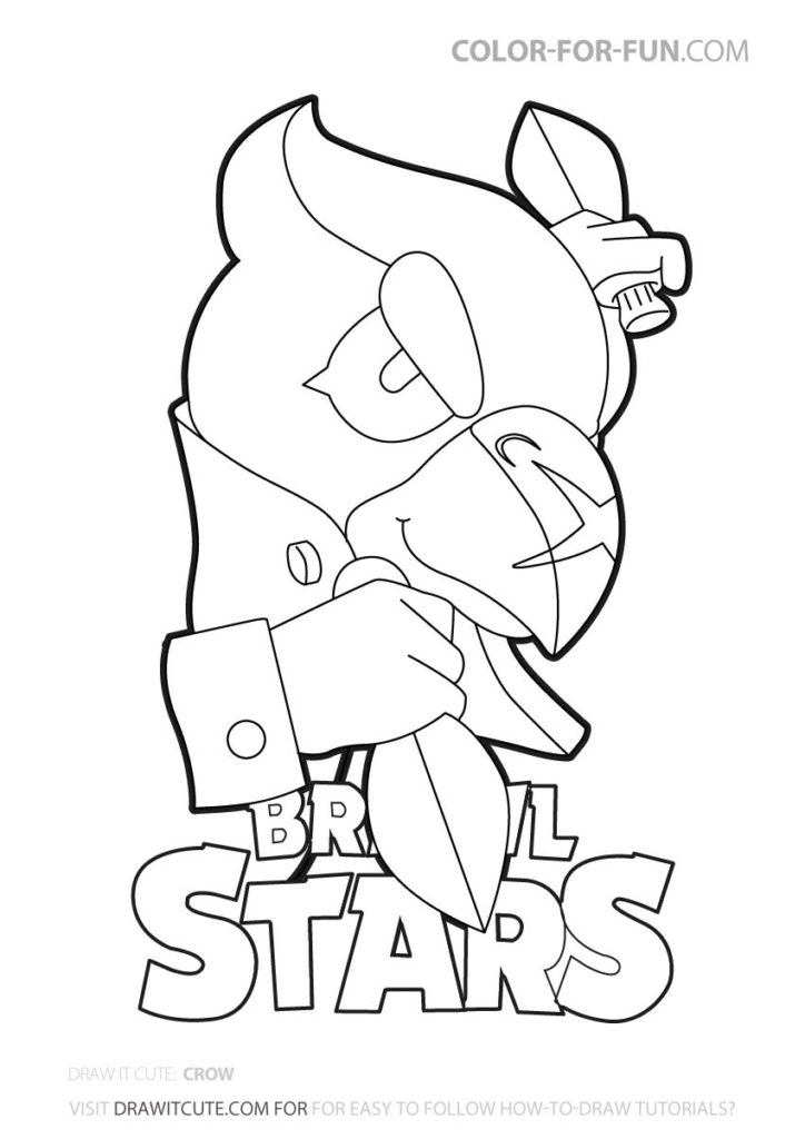 Crow Brawl Stars Coloring Page Color For Fun Star Coloring Pages Coloring Pages Lego Coloring