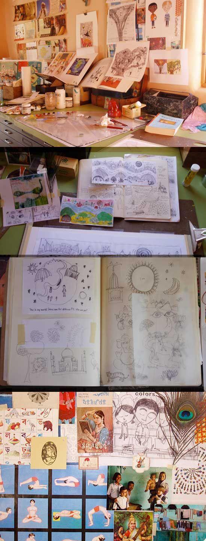 a look into Jenny Kostecki-Shaw's studio