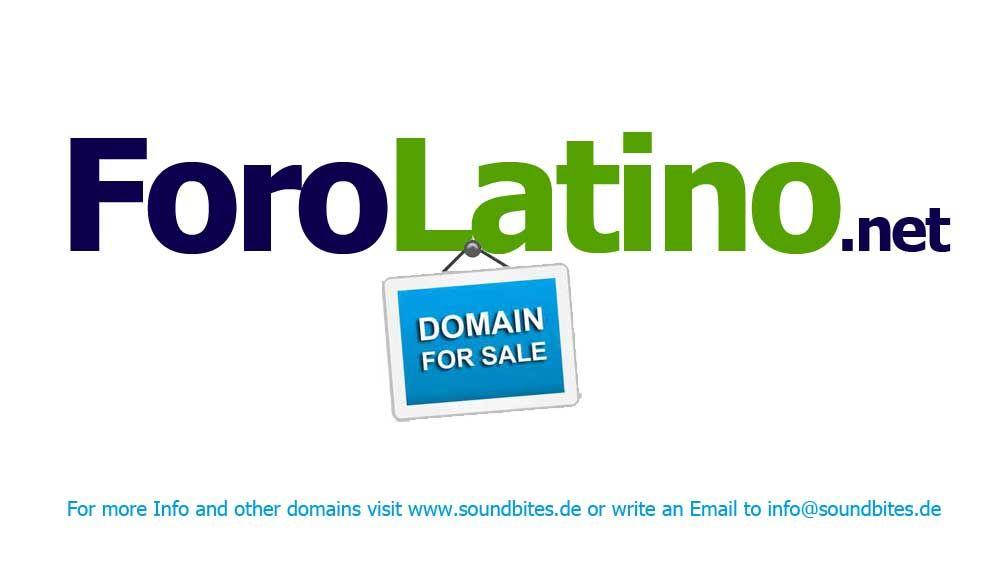 Domain -> ForoLatino.net <- for sale