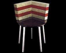 """Parigi"" chair.  Martine Bedin for Memphis 1986"