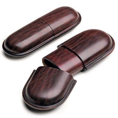 Zweiteilig, aus vegetabil gegerbtem Rindleder (Lederstärke 2,5 mm). Das verstärkende Mittelstück ist zur Schonung... - Brillen-Stecketui Rindleder