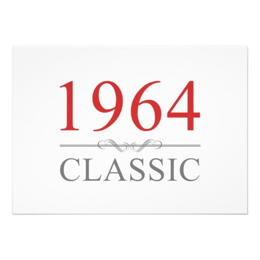 1964 Classic Birthday Invites In our offer link above you