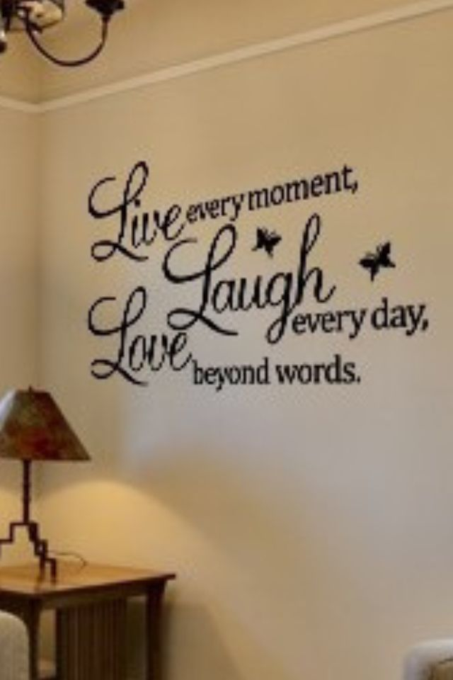 Live Love Laugh  Vinyl Wall Home Decor Decal Quote Home Inspirational  Cute