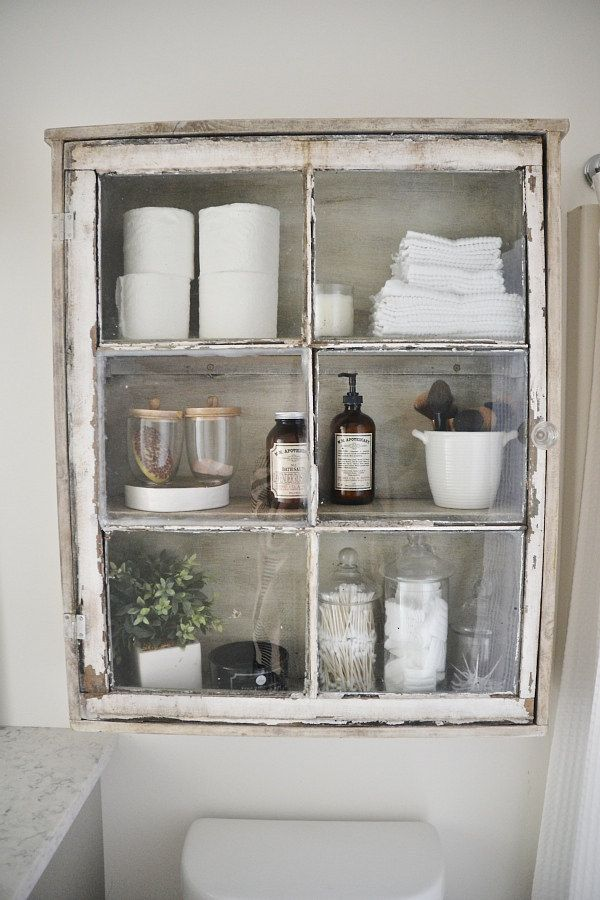 Photo of Turn a reclaimed window into a medicine cabinet.