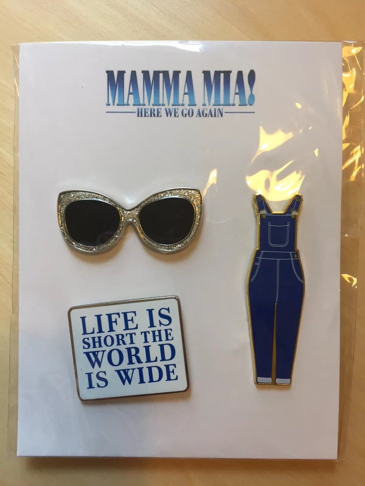 Mamma Mia Here We Go Again Collectible Pin Badge Set Abba Mamma Mia Mama Mia