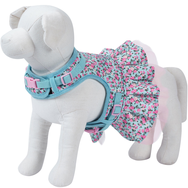 Made Well Floral Print Dog Harness Dress Dog Harness Dog