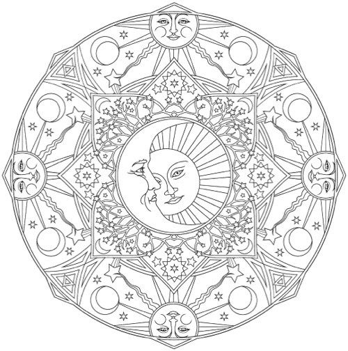 The Best Mandala Coloring Books For Adults Mandala Coloring Books Moon Coloring Pages Mandala Coloring Pages