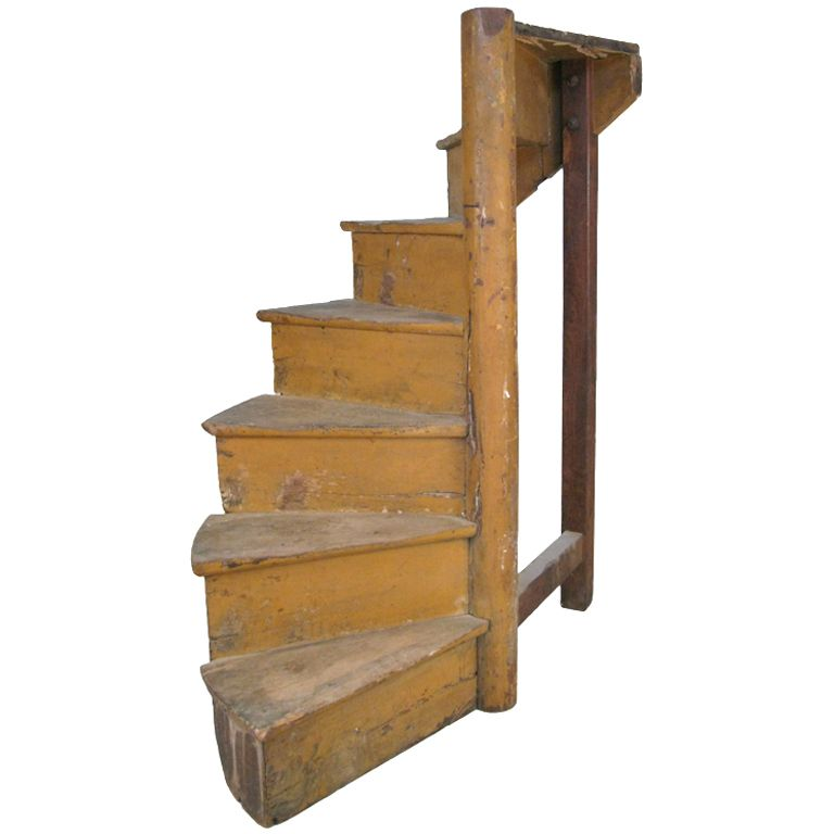 Best A Charming Small French Wooden Spiral Staircase French 640 x 480