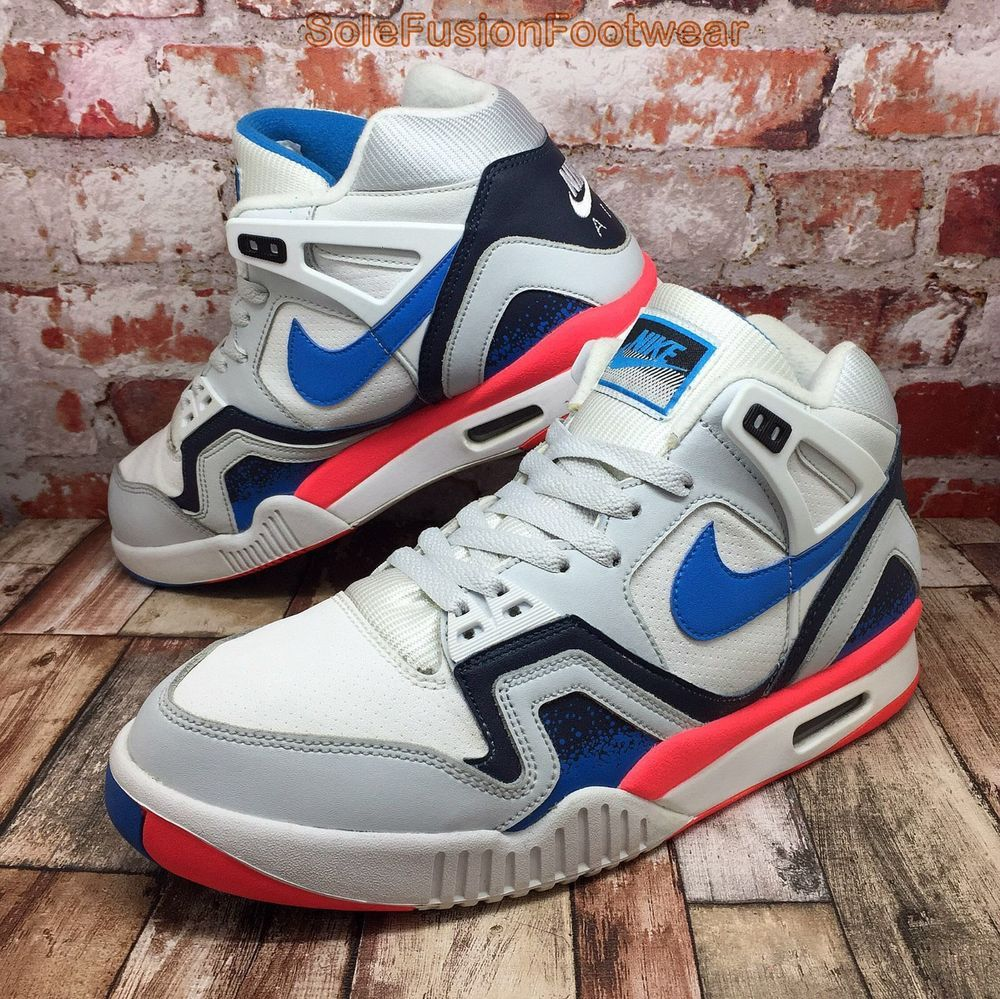 81902e3a55c Nike Mens Air Tech Challenge Trainers White sz 8 Andre Agassi Sneakers US 9  42.5