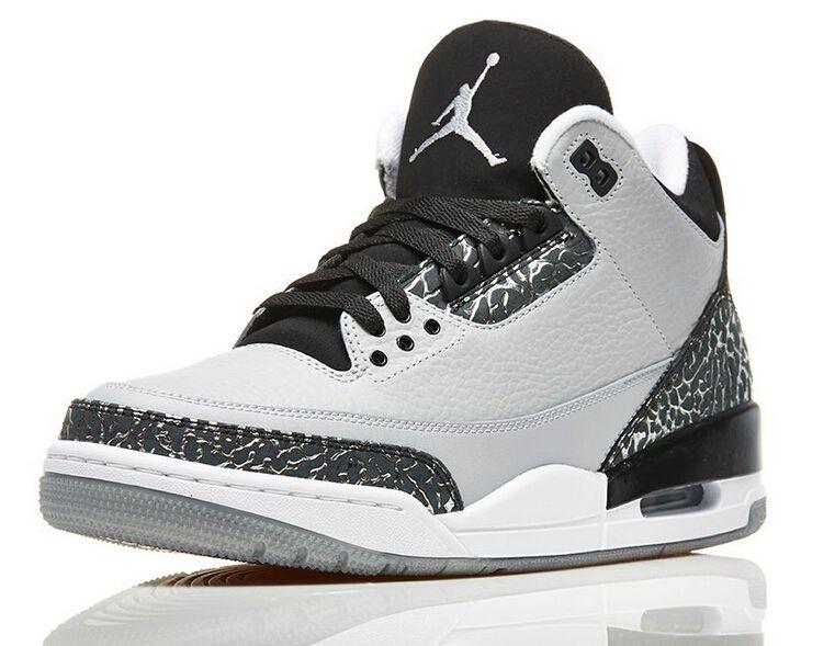 best cheap 42079 c381b Buy Authentic Air Jordan Wolf Grey Retro 3s Men Footwear ...
