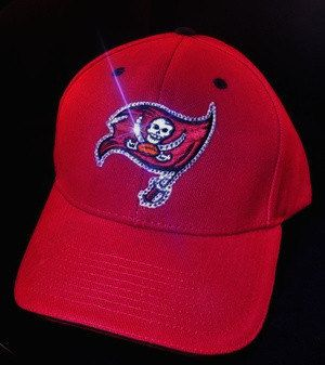 Tampa Bay Buccaneers Bucs Womens Bling Hat Cap by BabyWantsBling, $54.99 www.babywantsbling.com