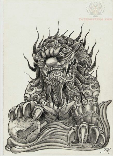 Great Foo Dog Foo Dog Tattoo Foo Dog Tattoo Design Dog Tattoo