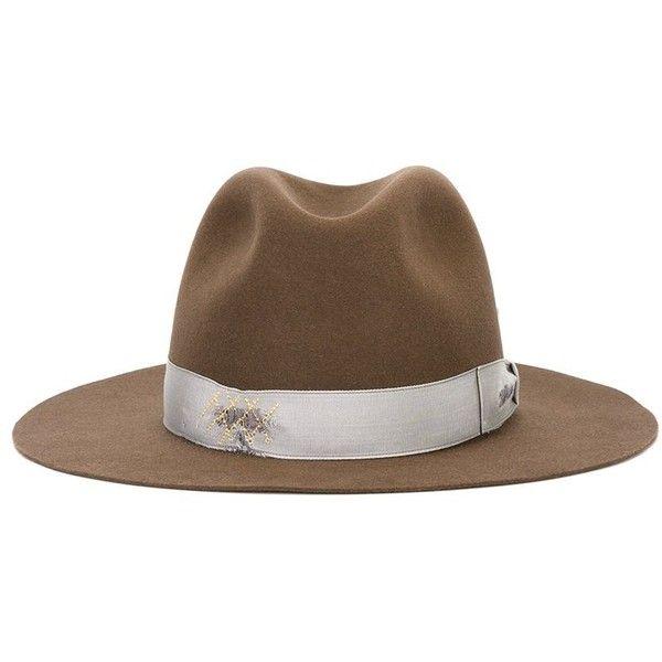 strap detail fedora hat - Black Borsalino hLL2HKkl0b