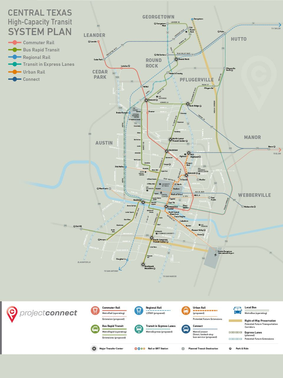 Public Transportation Vision Map Austin activities