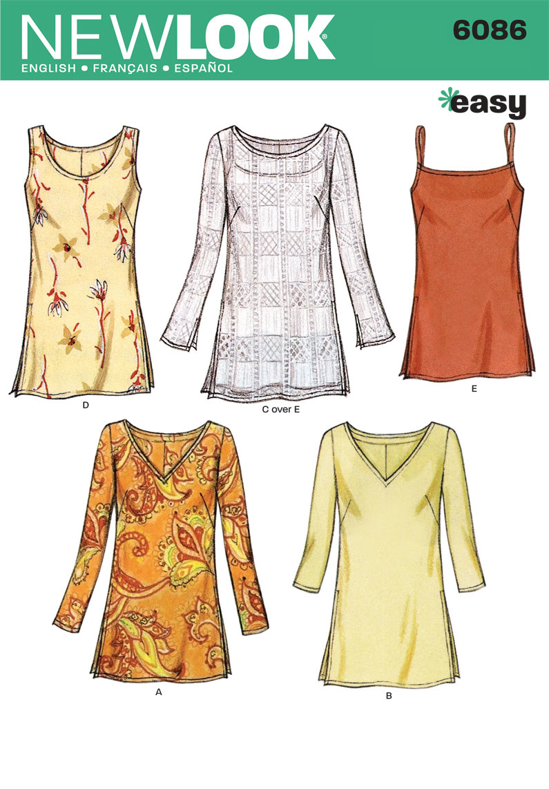 New Look Pattern: NL6086 Misses Tops — jaycotts.co.uk :: Sewing ...