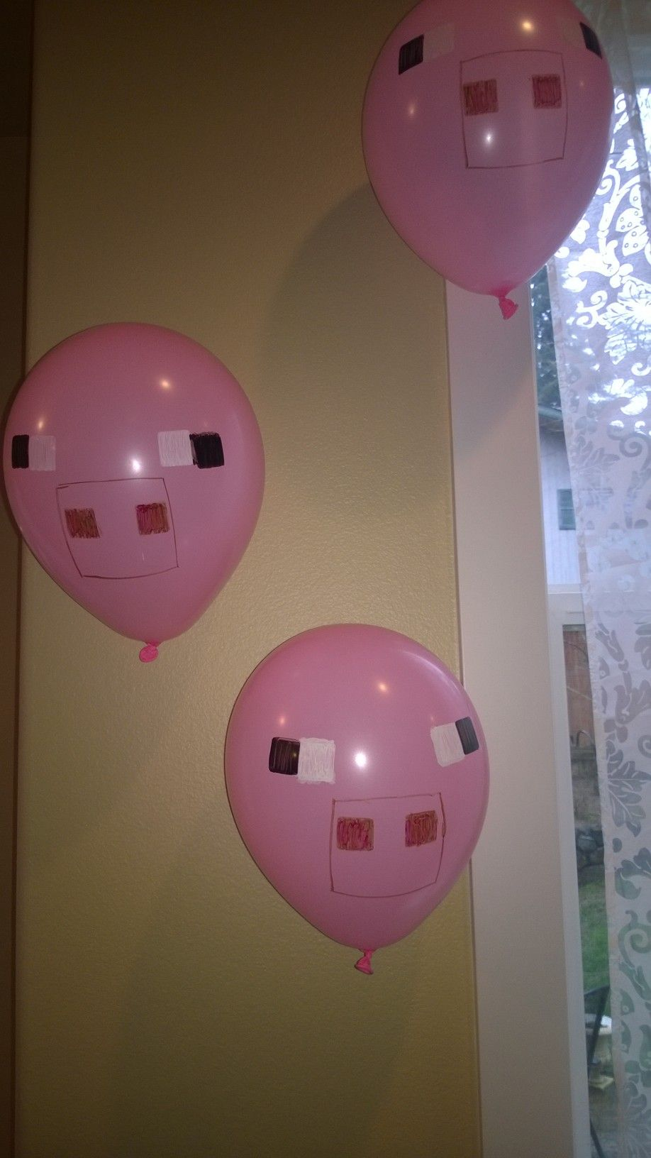 Minecraft decorations Pigs Anniversaire