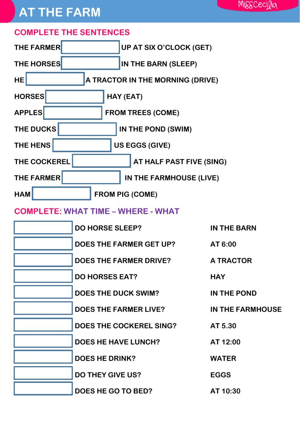 Present Simple Interactive And Downloadable Worksheet Check Your Answers Online Or Sen This Or That Questions English Worksheets For Kids Vocabulary Exercises