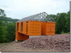 installing shipping container home roof