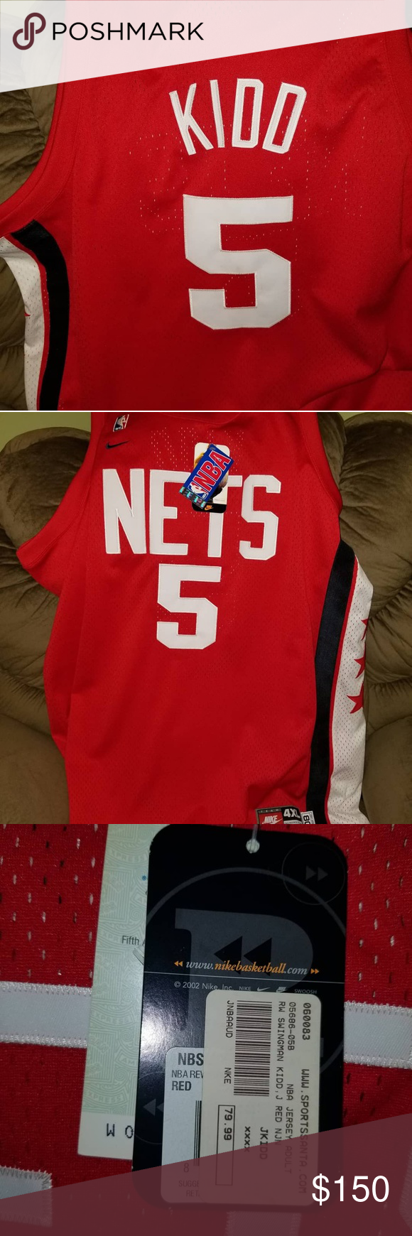 wholesale dealer 0cf56 cc887 Jason Kidd Nike retro jersey 100% Authentic Jason Kidd New ...