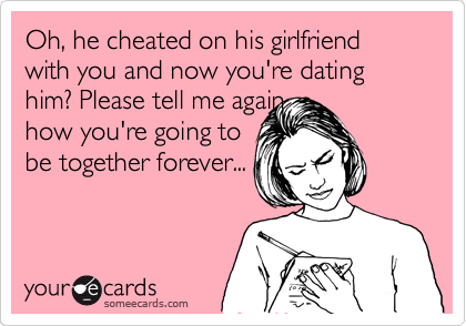 Dating a guy who cheated on you