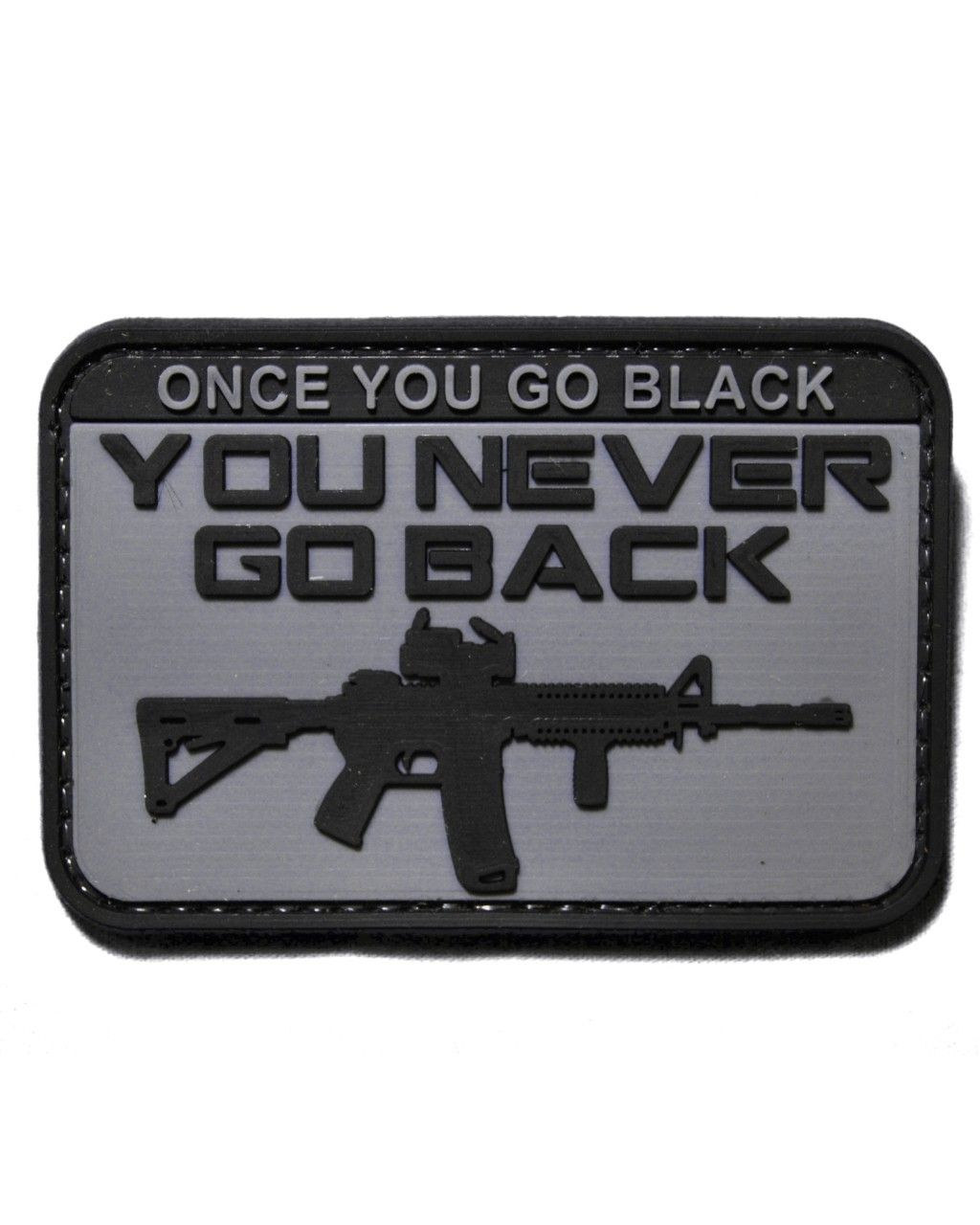 Tactical morale patch black rifle once you go black http www shadez