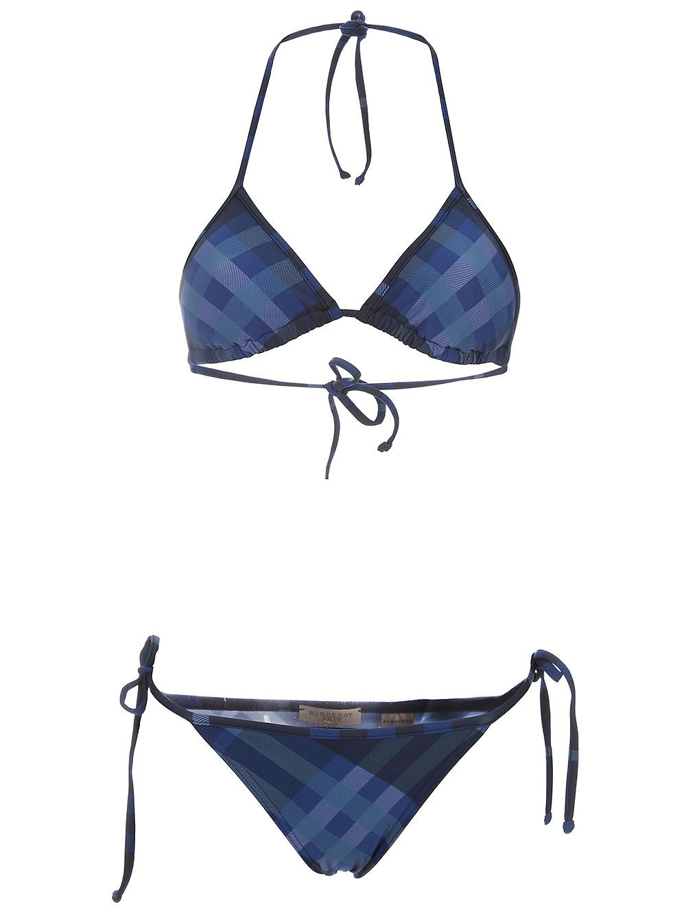 Burberry   Plaid bikinis, Strap swimsuit, Burberry outfit