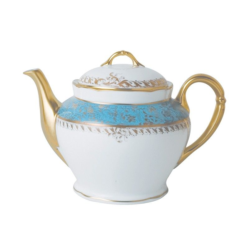 China Teapot 12 Cups Of The Collection Eden Turquoise Bernardaud Tea Pots Tea Porcelain Ceramics