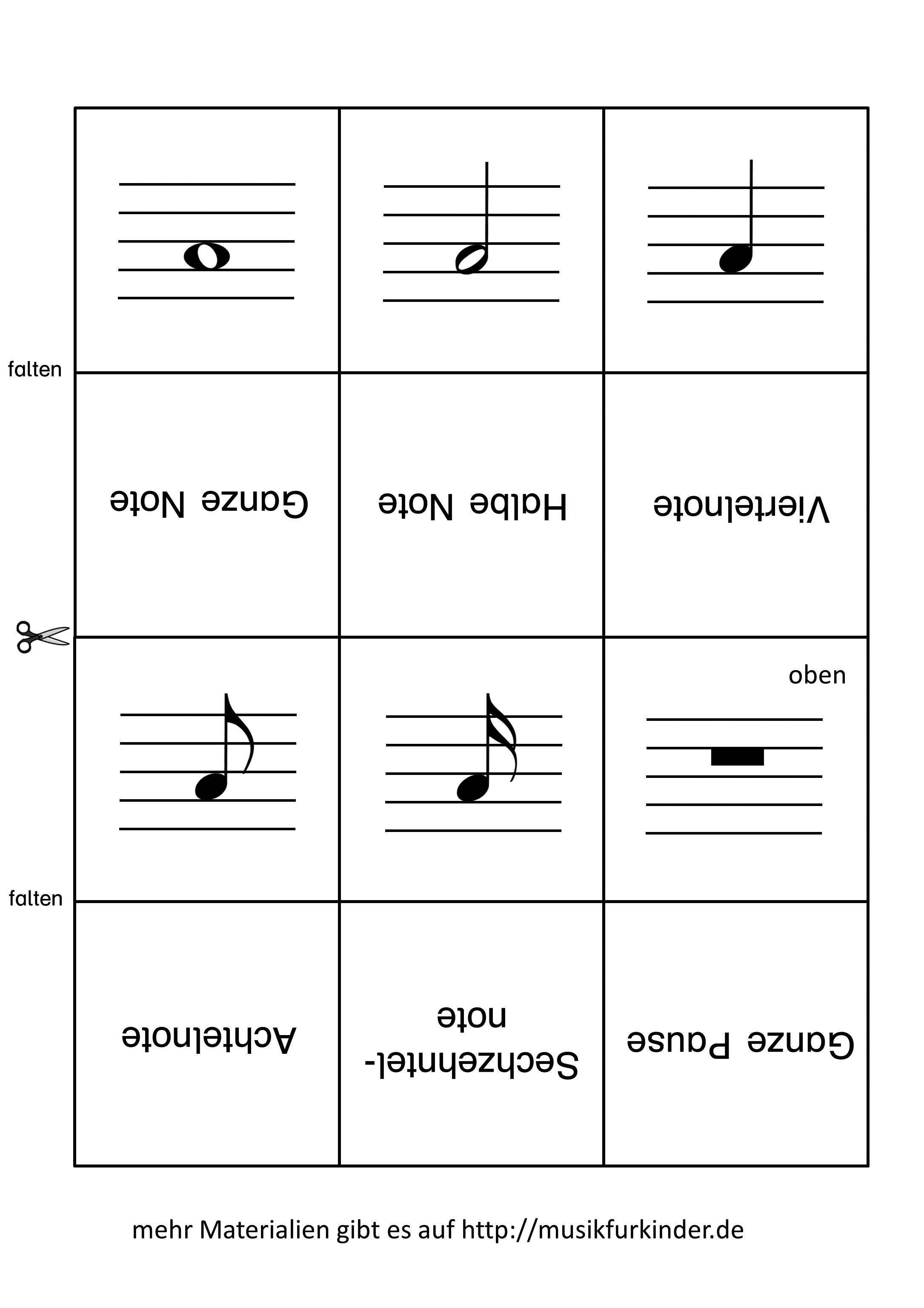 Super Bildergebnis für leporello basteln leporello | Musik | Notenwerte BW72