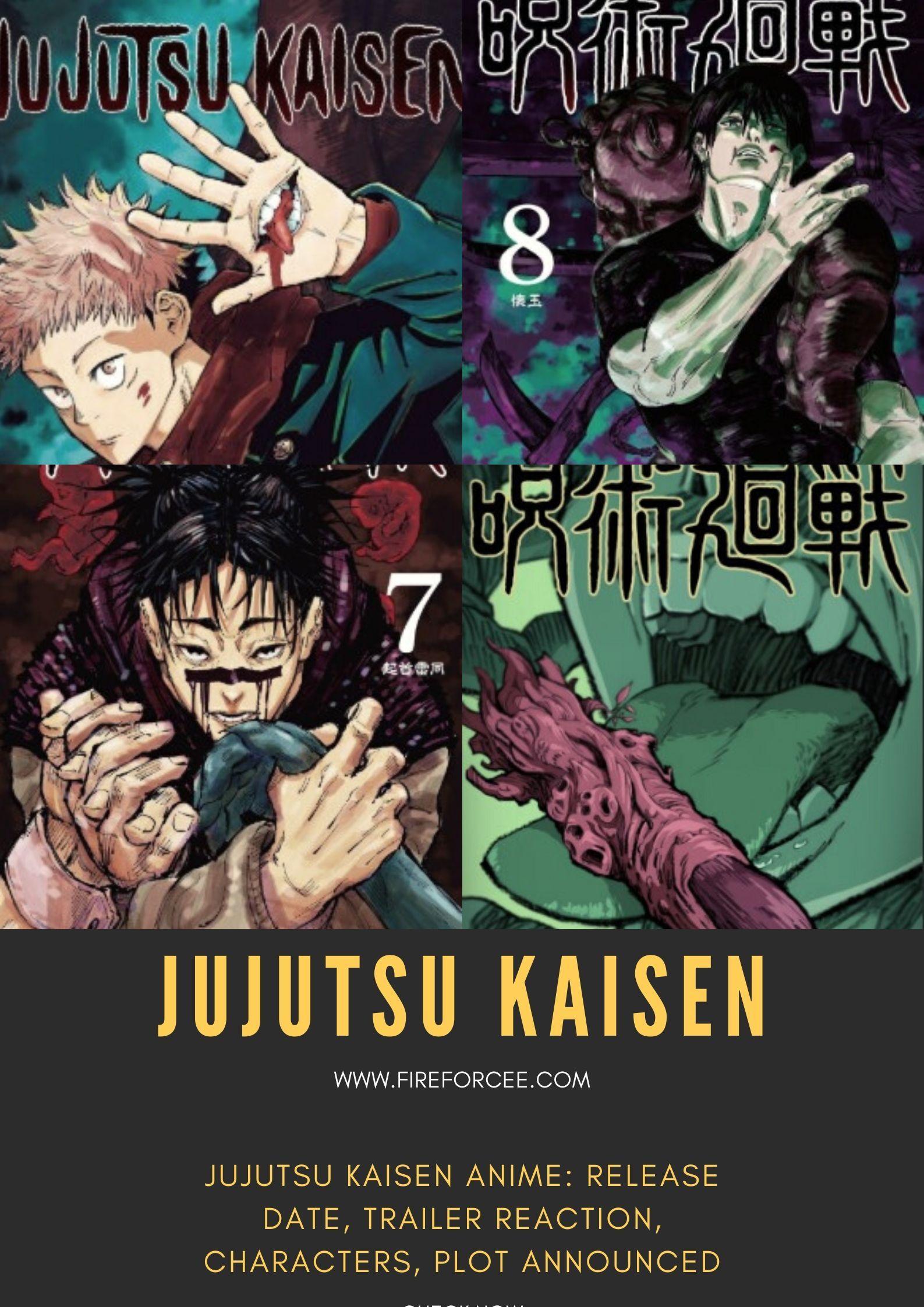 Jujutsu Kaisen Anime Release Date Trailer Reaction Characters Plot Announced Jujutsu Anime Anime Release Dates