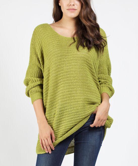 Green Dolman Sweater