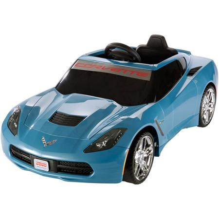 Fisher Price Wheels Corvette 12 Volt Battery Ed Ride On Blue