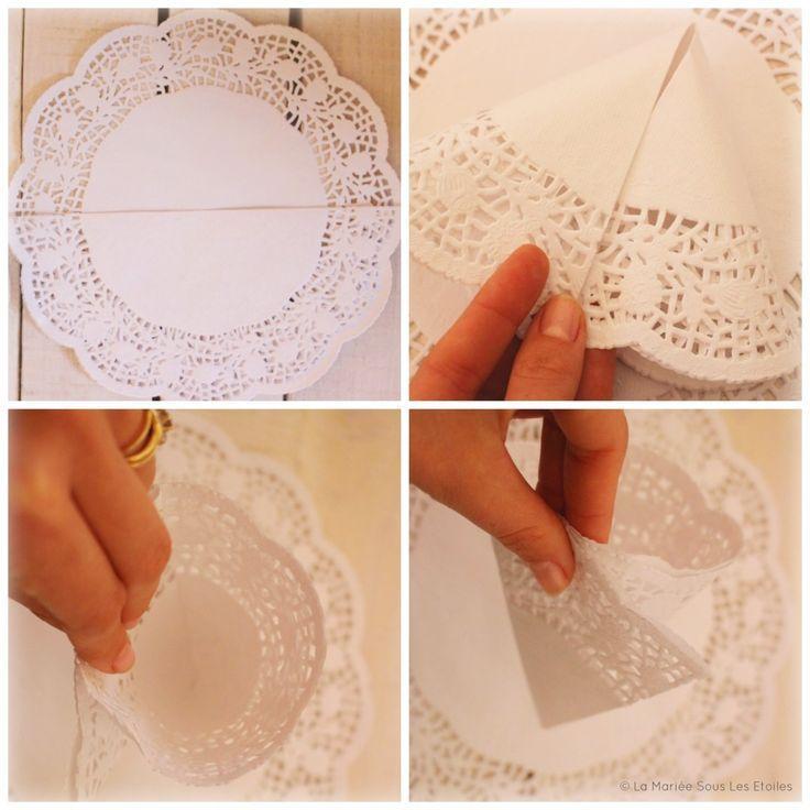 {DIY} Kleine Papierkörnchen herstellen | Schritt 2: Falten | Tuto ... - #decorationeglise #decorationeglise