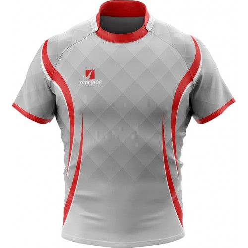 Scorpion Sports Uk Printed Rugby Shirts From Just 6 In Your Own Bespoke Design Or Colour Rugby Jersey Design Rugby Design Rugby Shirt