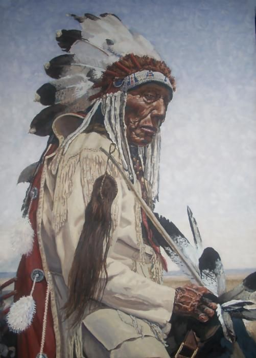 Native Americans Indians Art Old Native American Painting By