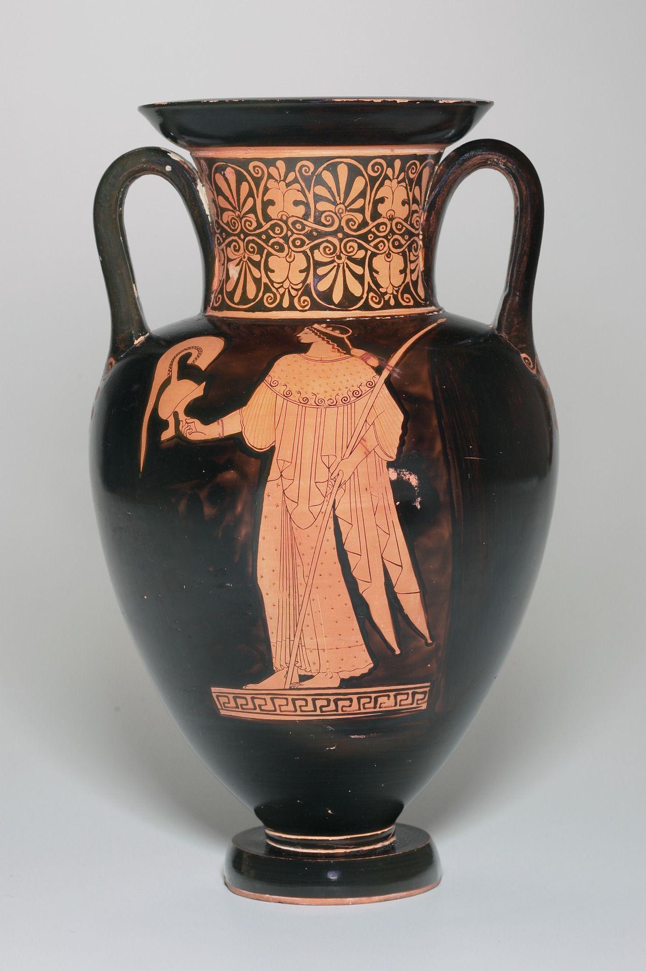 Greek Attic Ca 500 475 B C Nolan Amphora Showing