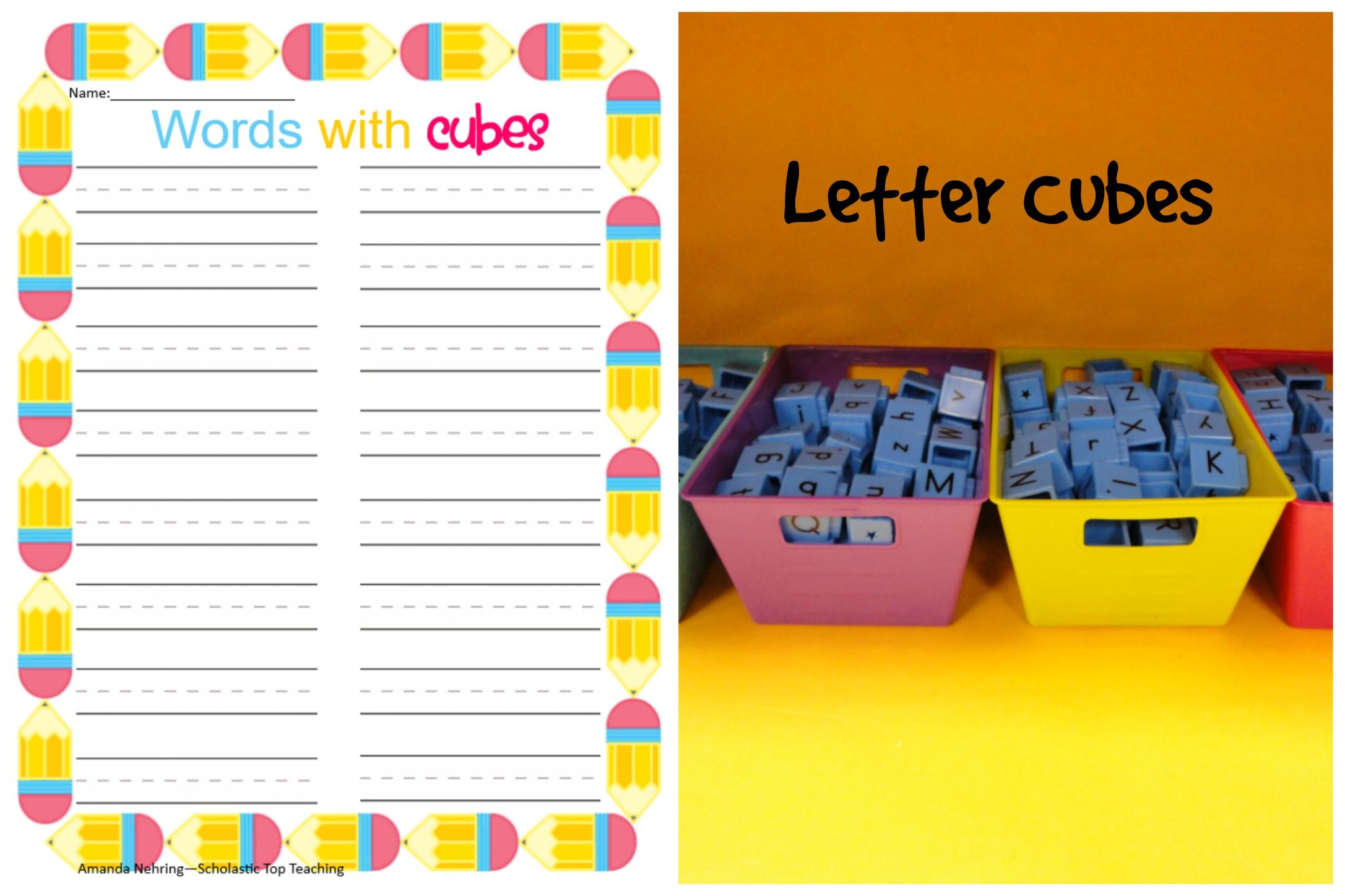 Use Letter Cubes To Spell Words And Record Them On This