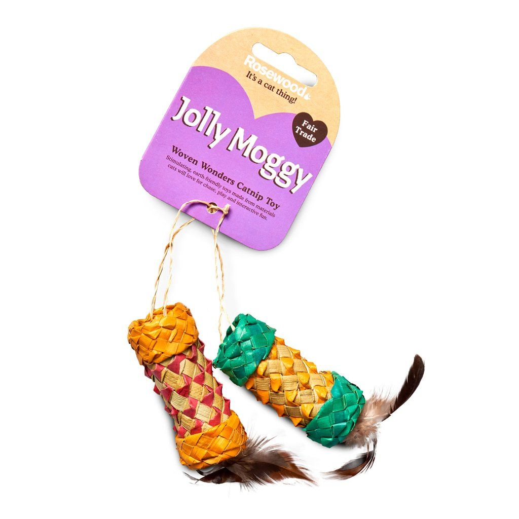 Eco Friendly Woven Wonders Catnip Roller Toys Catnip Cat Toys Pet Safe