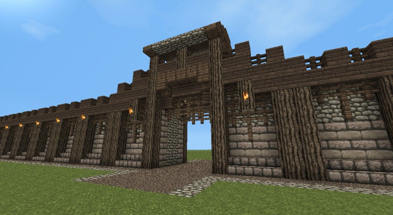Detailed Medieval Wall Entrance Now With Added Guard Tower