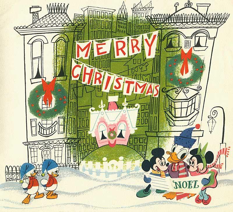 50s Disney Xmas Cards   Disney Christmas Ideas   Pinterest   Disney ...